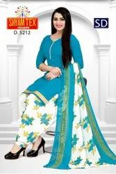 Patiyala Printed Pure synthetic Dress Material, For Ladies Garment, Size: Large