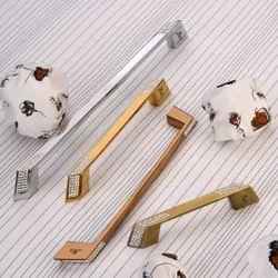 Zinc Stellux Crystal Cabinet Handle