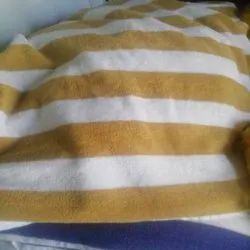 Ram Exports Brown & White Striped Bath Towel, For Home,Hotel, 450-550 GSM