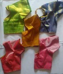 Stitched Tissue Silk Plain Blouse