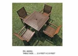 Dark Brown 4 Seater Wooden Dining Table, For And Restaurant, Size: 2.5 Feet X 2.5 Feet