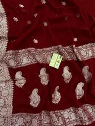 S.C 6.3 m (with blouse piece) Banarasi Khadi Georgette Saree