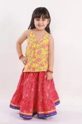 Halter Neck Top With Floral Print All Over ( 0 To 6 Years)