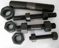 Mild Steel Threaded MS Hex Nut Bolt, For Industrial