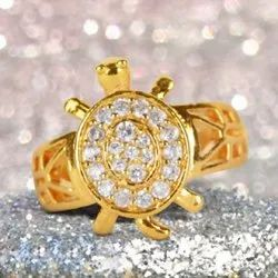 SSGJ Gold Plated Tortoise Shree Yantra Ring Meru Ring Shree Shyam Gems And Jewellery