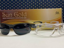 Polycarbonate Sun Gold safety Goggles, Frame Type: Plastic