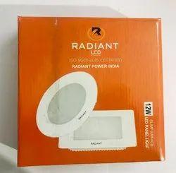 Radiant Round 12 W Led Panel Light, For Indoor, 220 V