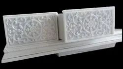Carved White Marble Carving Work, Polished