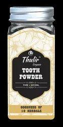 thulir organic Herbal Tooth Powder, Packaging Size: 50 Gms