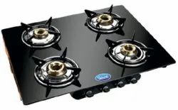 Stainless Steel Silver Flame 110 Gas Stove, For Kitchen