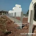 Precast Wall With Chainlink Fencing
