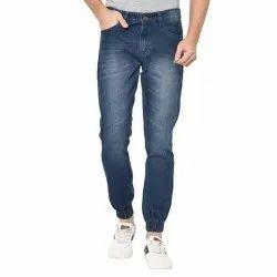 Party Wear Men Joggers Blue Denim Jeans