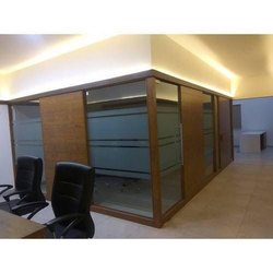 Brown Designer Wooden Office Cabin