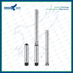 4 3HP AC Semi SS Solar Submersible Pump Set.