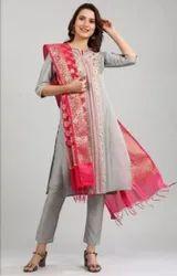 Cotton Churidar Party Wear Ladies Suit