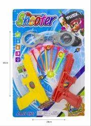 Yellow & Red Plastic Shooter Gun Toy