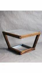 Brown Glass Tea Table