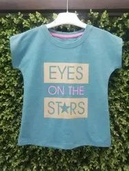 Lycra Cotton Casual Wear Kids Printed T-Shirts, Size: 3-5 Years