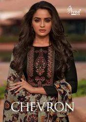Shree Fabs Chevron Jam Cotton Straight Salwar Suits Catalog