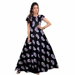 Black Ladies Printed Gowns