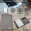 Jute Diary Power Bank 10000mAh with USB 16 GB