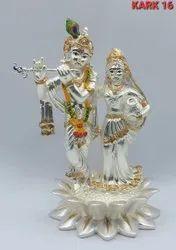 Silver Radha Krishna Idol