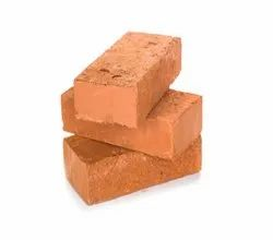 Clay Rectangular Fire Resistant Red Bricks, Size: 250 X 120 X 75 Mm