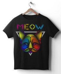 Cotton Black(Base) Kids 3D Printed T Shirt, Size: Medium