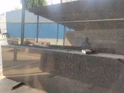 Polished Tan Brown Flooring Granite Slab, Thickness: 20 mm
