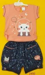 Orange And Black Shishu Choice Printed Kids Wear