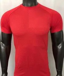 Dry Fit Polyester Honeycomb T Shirt
