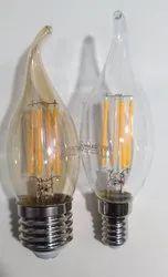 4 watt filament candle C35 bulb bend tip, Input Voltage: 220-240 V