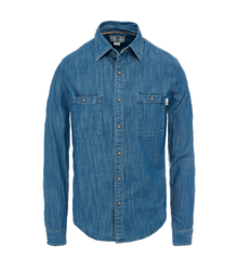 Blue Collar Neck Mens Denim Shirt