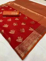 Present Dola Silk Weaving Design Good Looking Saree