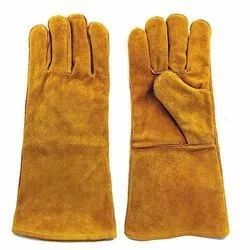 Brown Leather Hand Gloves, For Shipping Handling, Size: Medium