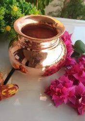 Diameter:- 12 Cm Copper Kalash Lota, Shine Finish, Pujan Purpose - 700ML