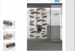 Glossy Rectangular 300 x 450 mm Ceramic Bathroom Tile