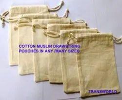100% COTTON DRAWSTRING POUCHES