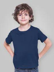 Cotton Casual Wear Kids Plain Round Neck T Shirt