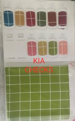 Polyester KIA Check Pattern Fabric