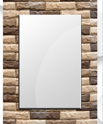 Polished Mirror Glass, For Bathroom, Size: 24x18 Inch