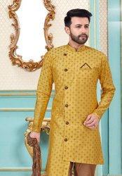 Baanarasi Silk Designer Mens Kurta With Dhoti Style Mens Wear Catalog Collection