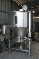 ss304,316 Vertical Mill Mixer, For Industrail, Capacity: 100kg-1000kg