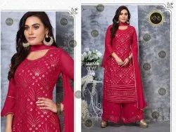Sequins Embroidered Palazzo Suit
