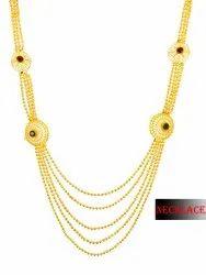 Wedding Golden Brass 5 Layer Necklace