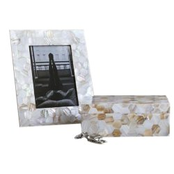 MDF and MOP Natural Antique Picture Frames, Size: 7*5 Inch