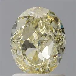 Oval 1.50ct Fancy Yellow SI2 GIA Certified Natural Diamond