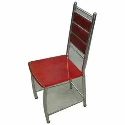 Red Polished SS Chairs, For Restaurant