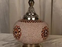 Glass Turquoise Table Lamp