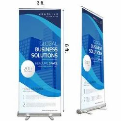 Black Flex Roll-Up Standees, Size: 3*6